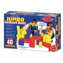 Melissa & Doug - Deluxe Jumbo Cardboard Blocks 40 Piece