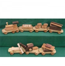 Handmade Wood Toy Jumbo Train