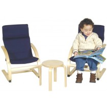 Kiddie Rocker Table & Chair Set in Blue by Guidecraft