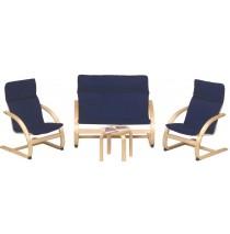Kiddie Rocker Couch & Chair Set In Blue