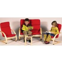 Kiddie Rocker Couch & Chair Set In Red