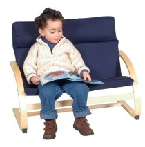 Kiddie Rocker Couch in Blue by Guidecraft