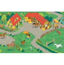 Horse Stable Learning Carpets for Kids Model LC 153