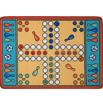 Parcheesi Learning Carpets for Kids Model LC 157 - LC157-Parcheesi-360x365.jpg