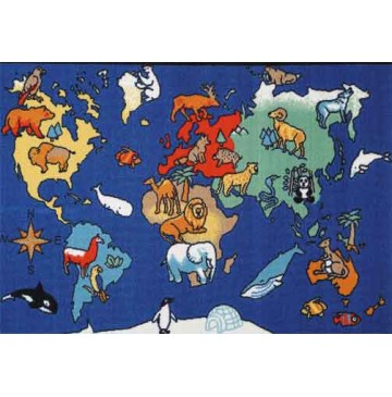 World Animals Learning Carpets for Kids Model LC 159 - LC159-World-Animals-360x365.jpg