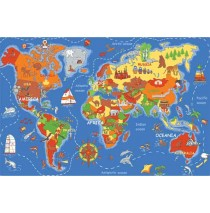 Where In The World Learning Carpets for Kids Model LC 177