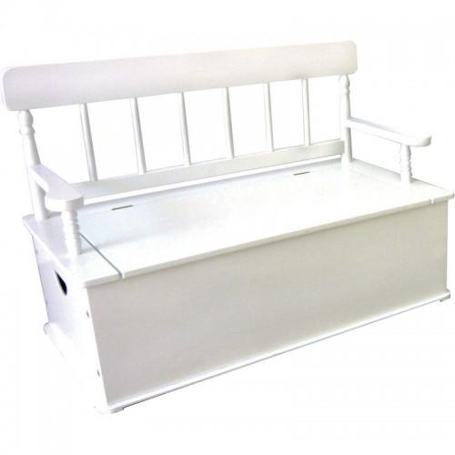 White Bench Seat W Storage