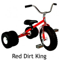 Dirt King Childs Dually Tricycle In Red Ages 3 - 6