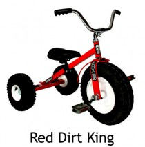 Dirt King Childresn Tricycle Red Ages 3 - 6