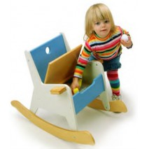 Rockabye Storage Rocker by Offi - Blue