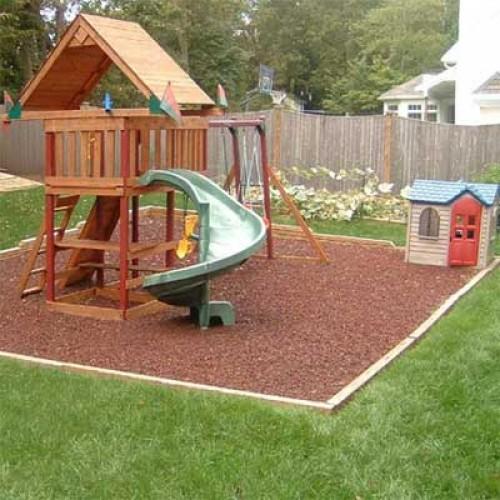 Preferred KidWise Rubber Mulch, Residential Swing Sets Backyard VC89