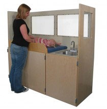 Strictly For Kids Mainstream Changing Station with Laminate, Vision Panels, 66''w x 24''d x 60''h