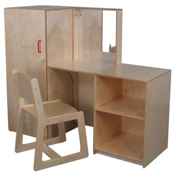 Strictly For Kids Mainstream Preschool Vanity Set, 48''w x 16''d x 40''h (Chair sold seperately) - SK-Vanity-With-Mirror-360x365.jpg