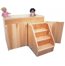 Strictly For Kids Deluxe Changing Table with Steps, Laminate, 45''w x 24''d x 36''h