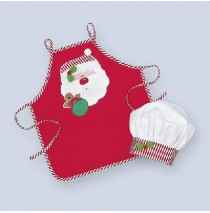Santa Child Apron with chef hat