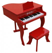 Schoenhut Fancy Baby Grand Toy Piano 30 Key Red