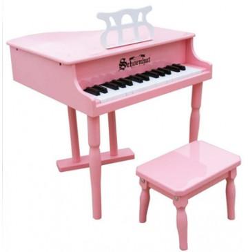 Schoenhut Classic Baby Grand Toy Piano 30 Key Pink - Schoenhut309GP-360x365.jpg