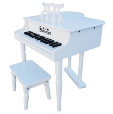 Schoenhut Classic Baby Grand Toy Piano 30 Key White - Schoenhut309GW-360x365.jpg