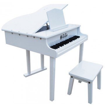 Concert Baby Grand Piano White Toy Pianos by Schoenhut  - Schoenhut379W-360x365.jpg