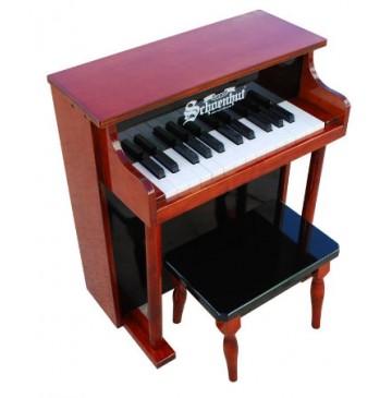 Schoenhut Traditional Spinet Toy Piano 25 Key Mahogany & Black - Schoenhut6625MB-360x365.jpg