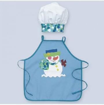 Snowman Child Apron with chef hat - Snowman-Apron-360x365.jpg