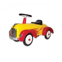 Speedster Hot Dog Racer in Yellow Flamed