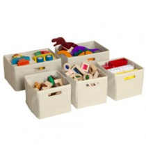 Tan Storage Bins 5 QTY