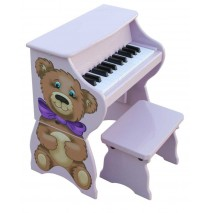 Schoenhut Piano Pals Teddy Bear With Bench