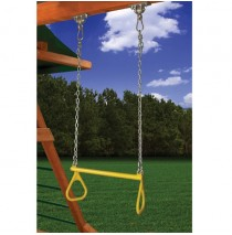 Trapeze Bar with Chain & Handles Yellow