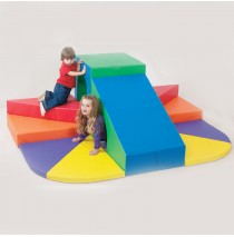 Tunnel Mountain Slide Soft Play Climber