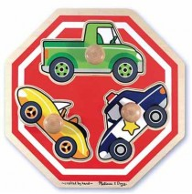 Vehicles Stop Sign Jumbo Knob Puzzle Melissa & Doug