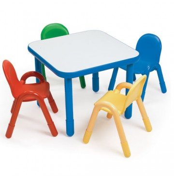 Angeles Baseline Square Table & 4 Chair Set - Blue Trim, Primary - White-Table-Primary-Chairs-360x365.jpg