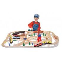 Wooden Railway Set by Melissa & Doug
