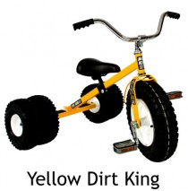 Dirt King Childs Dually Tricycle In Yellow Ages 3 - 6