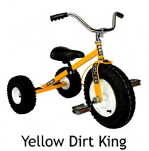 Dirt King Childrens Tricycle Yellow Ages 3 - 6
