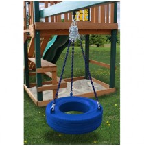 Residential Plastic Tire Swing - Blue
