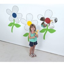 Set of 3 Flower Mirrors by Childrens Factory