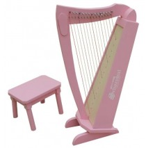 15 String Harp w/ bench in Pink Finish