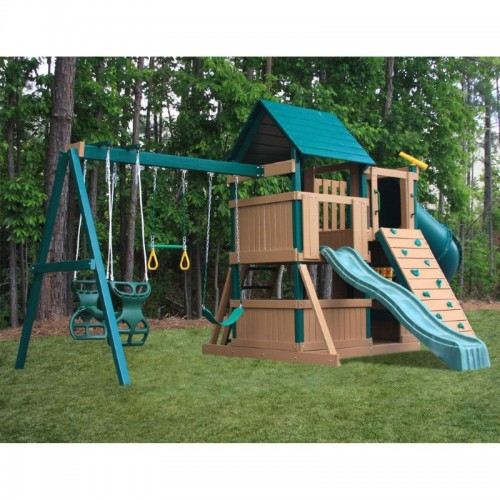 Congo explorer tree house climber swing set for Tree house swing set