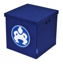 "Folding Toy Box Furniture Cube - 18"" Blue"