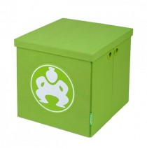 "Folding Toy Box Furniture Cube - 18"" Green"