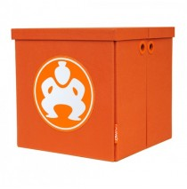 "Folding Toy Box Furniture Cube - 18"" Orange"