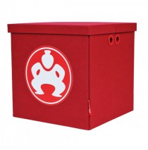 "Folding Toy Box Furniture Cube - 18"" Red"