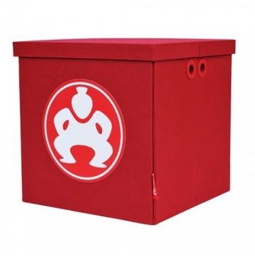 "Folding Toy Box Furniture Cube - 18"" Red - folding-furniture-cube-red-360x365.jpg"