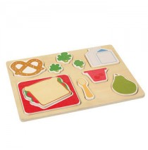 Guidecraft Sorting Food Tray - Lunch