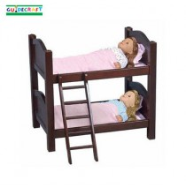 Guidecraft Doll Bunk Beds- Espresso