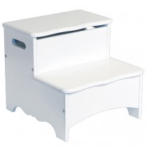Guidecraft Classic White Step Stool