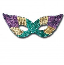 Sequin Harlequin Mask (Multi-Color) -One Size
