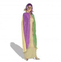 Mardi Gras Sparkling Cape -Standard One-Size