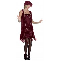 Gatsby Girl (Burgundy) Adult Plus Costume -Plus (14-20)